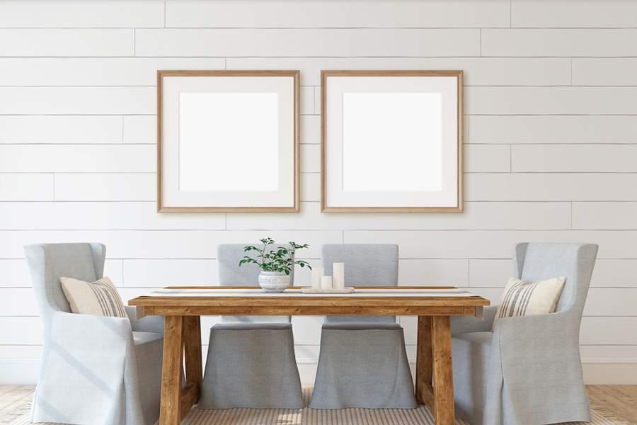 cómo decorar una mesa de comedor moderna
